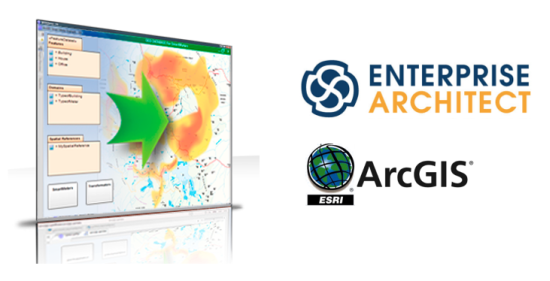 esri arcgis CASE tool avec Sparx Enterprise Architect MDG