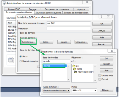 new odbc data source access driver