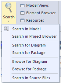 enterprise architect 13 beta search ribbon