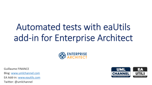 automated tests for eautils sparx enterprise architect addin