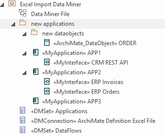 data miner import excel result browser sparxsystems enterprise architect 15