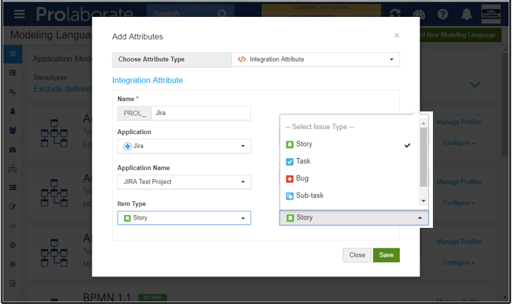 prolaborate jira integration sparx enterprise architect add attribute