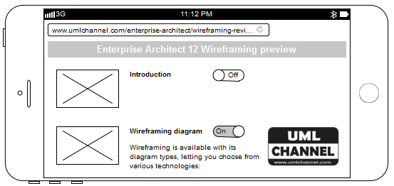 enterprise architect 12 wireframing example iphone